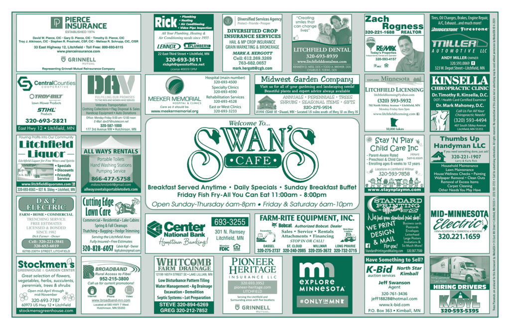 **Swans Placemat